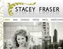 Stacey Fraser website layout design 2011