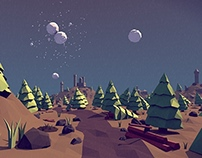 Low Poly Forest Landscape