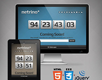 Netrino - Bootstrap Coming Soon Page