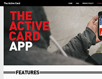 Active Card App Landing Page