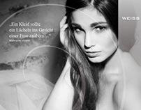 Kampagne für eine Mode-Designerin