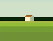Landschaft mit Haus