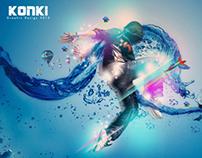 Light water dance