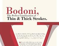 Bodoni Typeface Poster Design