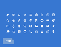 36 Pixel Perfect Icons (PSD)
