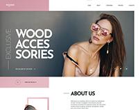 Wooden Accessories. WordPress Landing