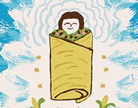 Blue Q Burrito Dish Towel
