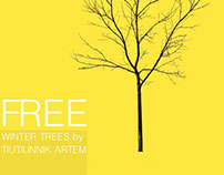 Free cut out winter trees!