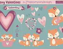 Free Foxy Valentine's Day Set