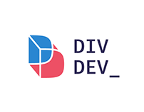 DivDev Logo. Personal branding logo design for IT