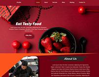 Responsive web landing page design html5 css3 js