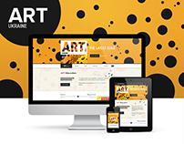 Concept for a Ukrainian Art Magazine Website