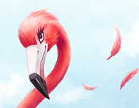 Flamingo illustrations