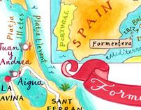 Formentara map