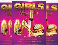 Girls Night Out - Premium Flyer Template + Facebook