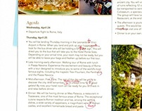 Proofreading Edits to a Trip Brochure