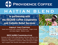 Providence Coffee Haitian Blend Flyer