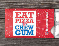 Gum packaging for Boston Pizza