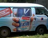 New Vita 500 Van Branding