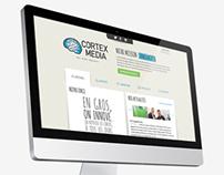 Cortex Media. Responsive website design, Logo