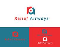 Relief Airways Corporate Logo design