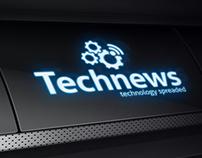 Tech News Technology Spreaded Logo Template