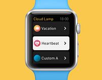 Cloud Lamp – Apple Watch App Concept