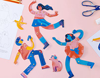 #StayHome free paper dolls