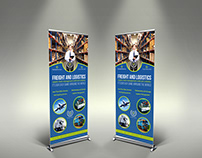 Freight and Logistic Services Signage Roll Up Banner Te