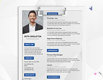 Free Lawyer Resume Template in Illustrator Format