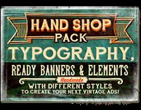 """Hand Shop Pack"" fonts"
