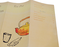 Menu Card design for Tea Pot
