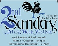 2nd Sundays Art and Music Festival Poster Designs