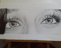 Ojos de Azul by MMPuhinger Hiperrealismo