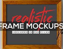 FREE REALISTIC FRAME MOCKUP VOL.1