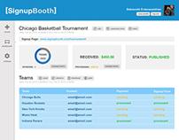 Interface Design for Tournament Organizing App