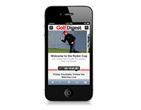 Golf Digest Mobile Site Launch