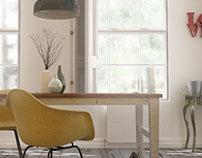 3d Living room visualization