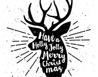 B&W Minimal Merry Christmas Backgrounds