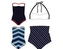 Hurley Women's Swimsuit Design-1950's
