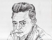 Johnny Cash-Ink Drawing