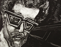 Venice Self-Portrait Monotype Print