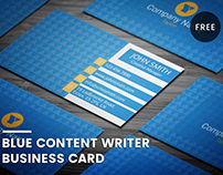 Blue Content Writer Business Card