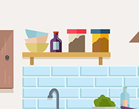 Urban Clap - Play Store Video - Kitchen Illustration