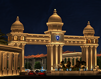 Classic Entrance gate Night View