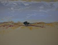 the Dunes...Winter Sketching