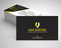 Business card for electric
