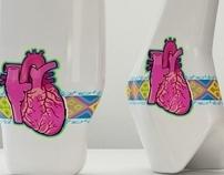 """Vase&Dicanter """" Silver 's W """""""