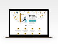ESET antivirus - Landing page