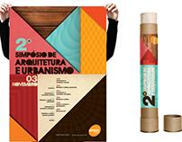 Convite / poster para evento sobre arquitetura